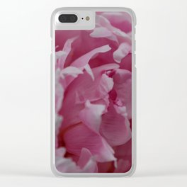 Frilly Pink Flower Clear iPhone Case