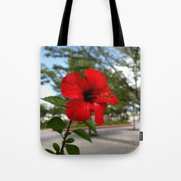 Red Flower Bloom Tote Bag