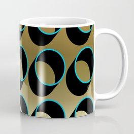 Tubes on Gold Coffee Mug