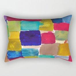 blocked in #1 Rectangular Pillow