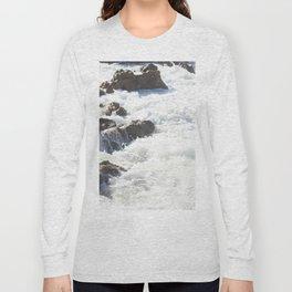 White water, dark rocks Long Sleeve T-shirt