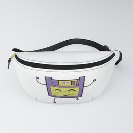 A1 Cute Dancing Floppy Disk Fanny Pack