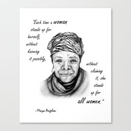 Feminist Art Maya Angelou Quote Canvas Print