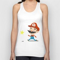 mario Tank Tops featuring Mario by Rod Perich