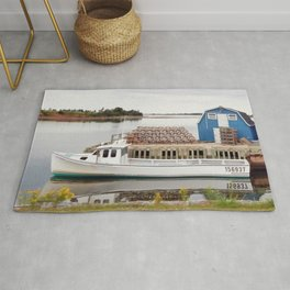 Lobster Boat and Traps Rug