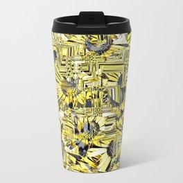 Sunflower Metal Travel Mug