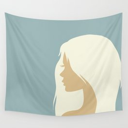 blonde girl in profile Wall Tapestry