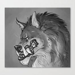 Werewolf Portrait Canvas Print