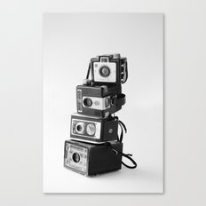 Camera Stack Canvas Print