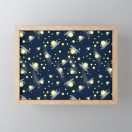Fireflies at Night Framed Mini Art Print