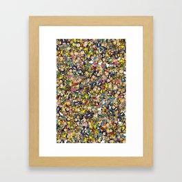 Peanuts Characters Framed Art Print