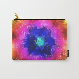 Starburst Tie Dye Watercolor Carry-All Pouch
