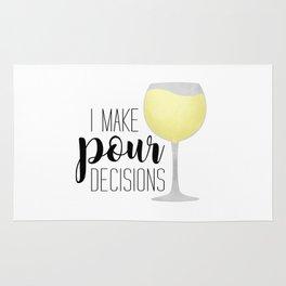 I Make Pour Decisions | White Wine Rug
