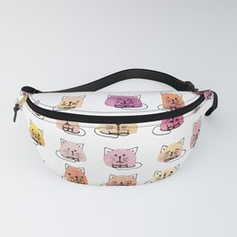 70 moods of cats Fanny Pack