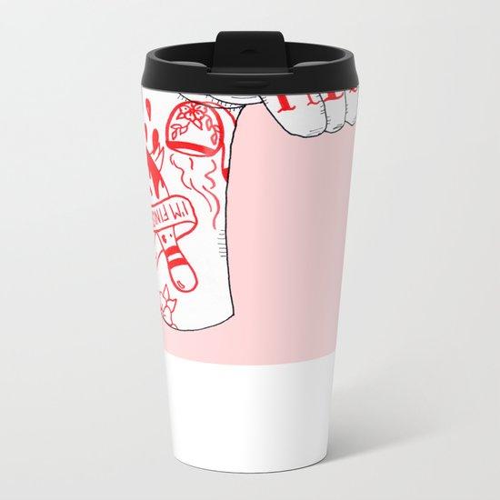 I Drink Your Milkshake Metal Travel Mug