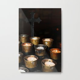 Church Candles Metal Print