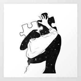 The puzzle love. Art Print