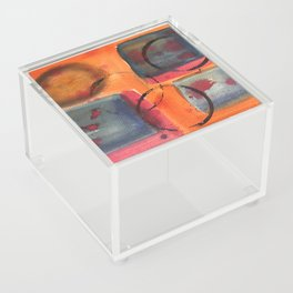 Rings on coffee table Acrylic Box