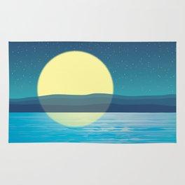 Night at the sea Rug