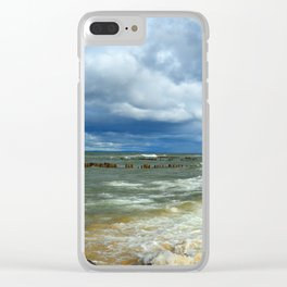 Waves at Whitefish Point Clear iPhone Case