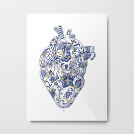 Broken heart - kintsugi Metal Print