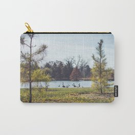 Migrate | Nature Landscape Photography of Birds in Fall Autumn Leaves Trees Carry-All Pouch
