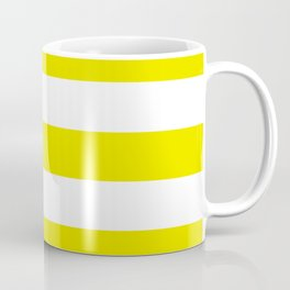 Titanium yellow - solid color - white stripes pattern Coffee Mug