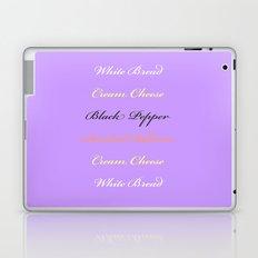 Salmon and Cream Cheese Laptop & iPad Skin