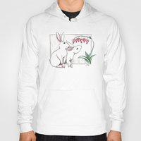 rabbits Hoodies featuring Rabbits by LyndaParker