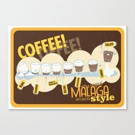Málaga Coffee Canvas Print