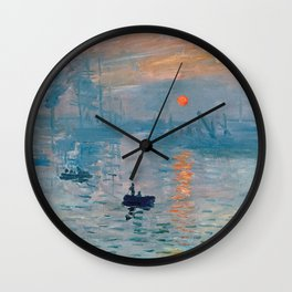 Claude Monet - Impression Sunrise Wall Clock