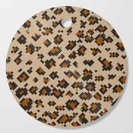Pixelated Leopard Cutting Board