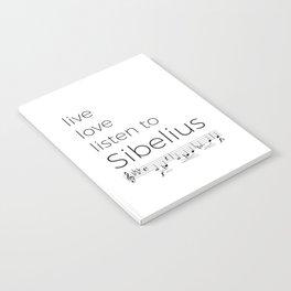 Live, love, listen to Sibelius Notebook