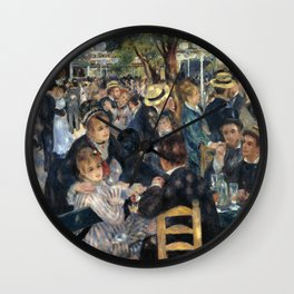 Auguste Renoir -Bal du moulin de la galette, Dance at Le moulin de la Galette Wall Clock