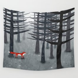 The Fox and the Forest Wall Tapestry