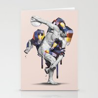 planet of the apes Stationery Cards featuring Apes Statue by Birgit Palma