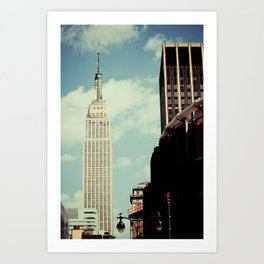 New York: Empire State Building in Color Art Print