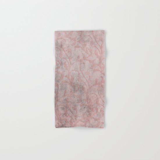 Dirty princess - Elegant Damask pattern with grunge effect Hand & Bath Towel