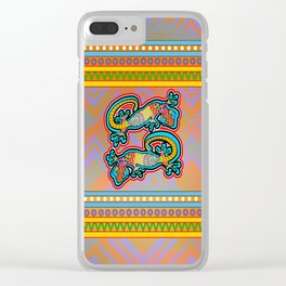 Geckos - Gold Clear iPhone Case