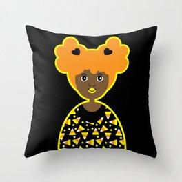 Girl 18 Halloween Candy Corn  Throw Pillow