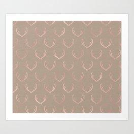 Caramel blush reindeer Art Print