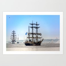 Majestic sailing view, Boston MA Art Print