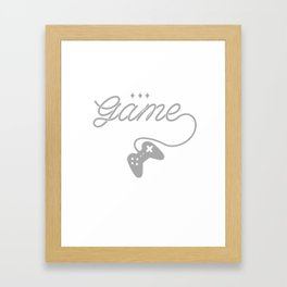 Promise Game Gamer Player Console Videogame Gift Framed Art Print
