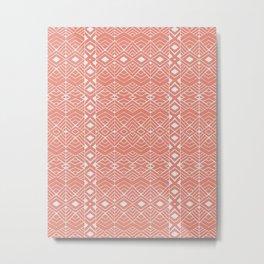 Aztec Coral Metal Print