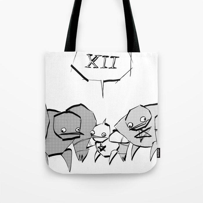 minima - slowbot 006 (clock) Tote Bag