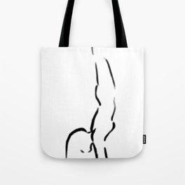 Yoga Handstand Tote Bag