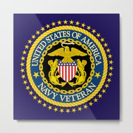 US Navy Veteran Metal Print