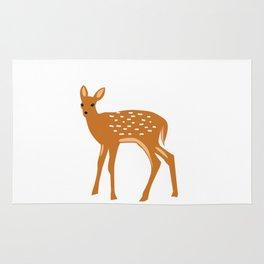 Baby Deer and Snow Rug
