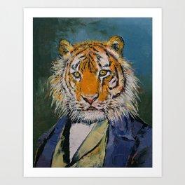 Gentleman Tiger Art Print