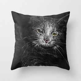Lunar Essence of the Siberian Kitty Cat Throw Pillow